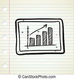 profit graphic chart doodle