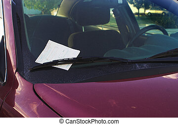 Parking Ticket - A parking ticket loving placed under the...