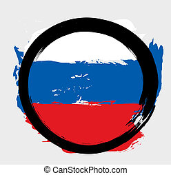 RUSSIAN ROUND FLAG