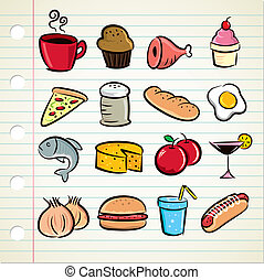 set of food and drink icon