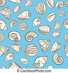 Shell seamless pattern