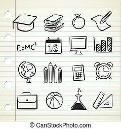 sketchy school icon