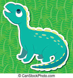cute dinosaur sticker - a cute dinosaur sticker with...