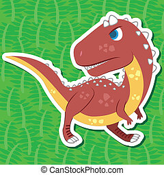 cute dinosaur sticker44 - a cute dinosaur sticker with...