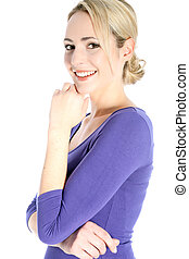 Smiling Young Blonde Woman Portrait