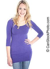 Young Beautiful Happy Blonde Woman