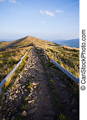 Stony road in mountains - Stony road in Bieszczady mountains