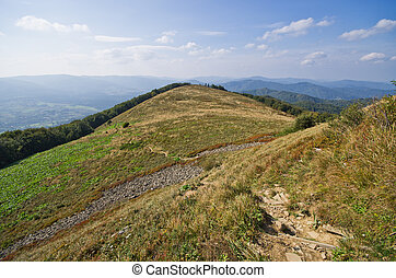 Landscape in the Carpathians mountains