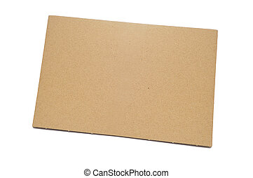 cardboard - a piece of brown cardboard on a white background