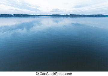 lake - blue lake with cloudy sky, nature series