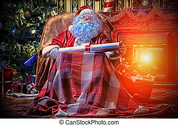nicholas - Santa Claus with a list of Christmas presents...