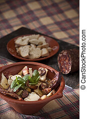 Traditional portuguese food - Real food photographed on...