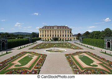 Schonbrunn Palace  in Vienna, Austria.