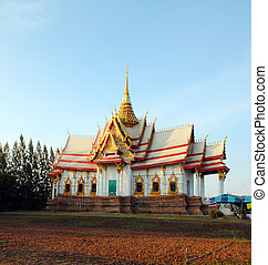 acient temple building in Thailand