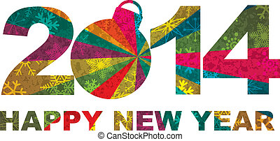 2014 Happy New Year Numerals - 2014 Happy New Year...