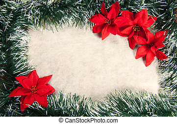 Christmas decorations - Christmas decoration with poinsettia