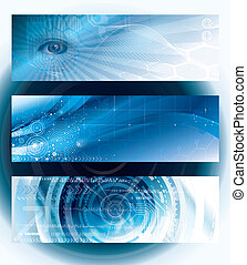 Technology Banners - Set of abstract technology web banner