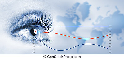 Human eye - Human eye looking the copyspace Vision concept...