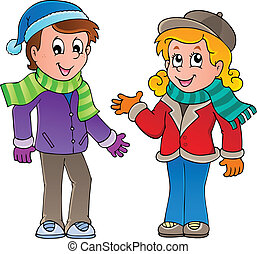 Cartoon kids theme image 1 - vector illustration