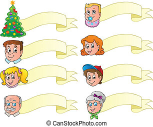 Christmas banners theme set 1 - vector illustration.