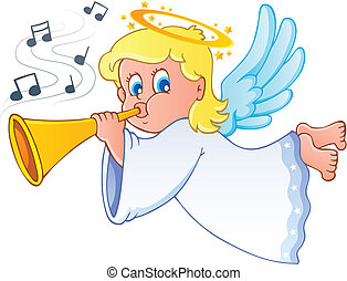 Image with angel 3 - vector illustration.