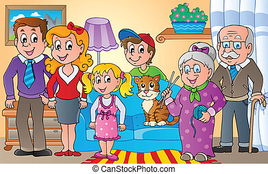 Family theme image 2 - vector illustration