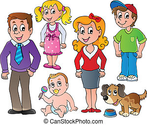 People and family collection 1 - vector illustration.