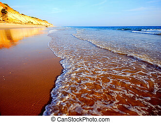 idillic sand beach on the Atlantic coast - idillic sand...