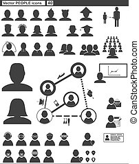 Vector set web icons people communication - Vector set web...