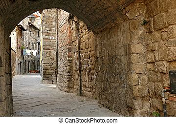 Viterbo Lazio, Italy, the medieval quarter of San Pellegrino...