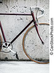 都市, スタイル, 自転車, 型, 壁, コンクリート