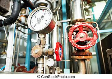 aquecimento, sistema, caldeira, sala, equipments