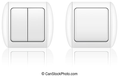electric light switch vector