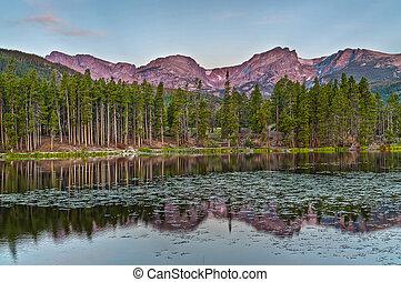 Spraque Lake Colorado - Sunrise - Calm serene Spraque Lake...