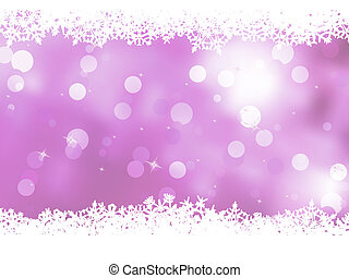 Pink background with snowflakes. EPS 8