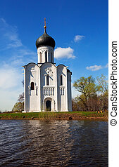 Church of Intercession on River Nerl in flood - Church of...