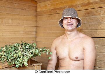 hombre,  sauna