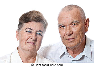 Portrait of an elderly couple