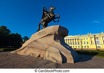 Monument of Peter the First - Monument of Peter the First in...