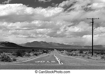 View from Route 66 between Goffs and Amboy, California