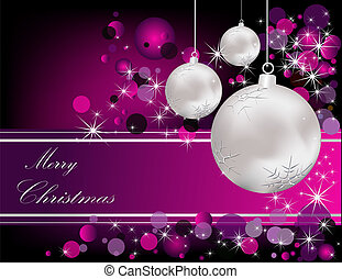 Christmas background - Merry Christmas background silver and...