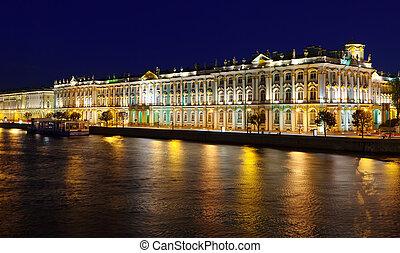 Winter Palace in Saint Petersburg - View of St. Petersburg....
