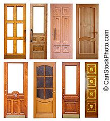 Set of wooden doors