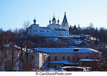 View of Gorokhovets in winter. Russia - View of Holy Trinity...
