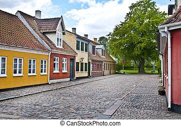 danish houses - Odense street