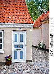 danish house door - street of Odense