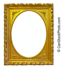 Oval gold picture frame