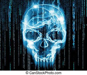 conceito,  hackers, Ilustração,  digital