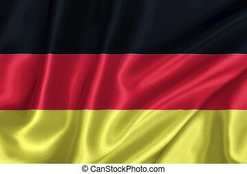 German flag on the wind