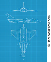 Dassault Rafale - High detailed vector illustration of a...